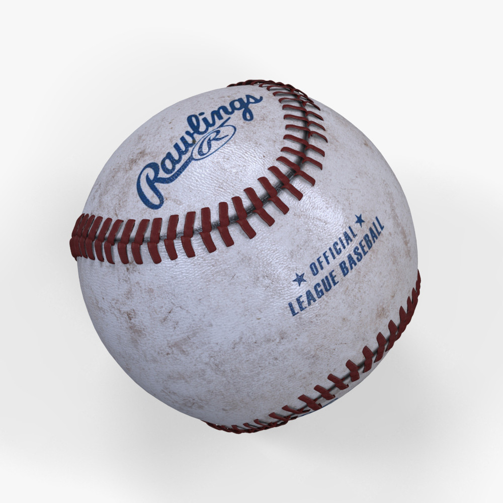 3d model baseball modeled
