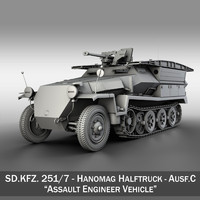 SD.KFZ 251/7 Ausf.C - Hanomag Pioneer Assault bridge