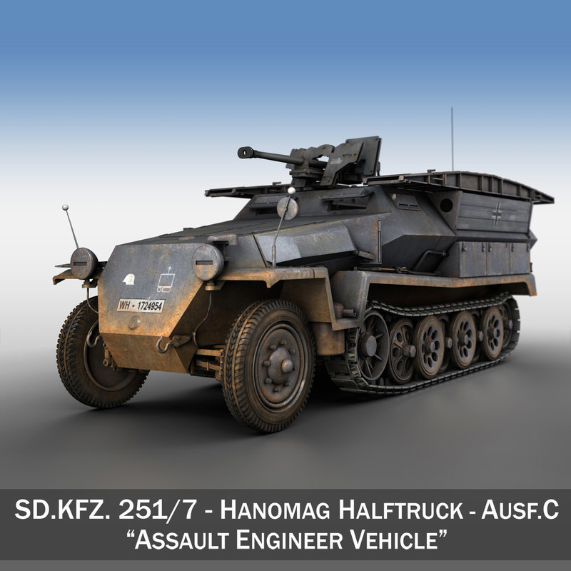 3d sd kfz 251 7 model