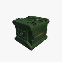 3d model of sci fi box new