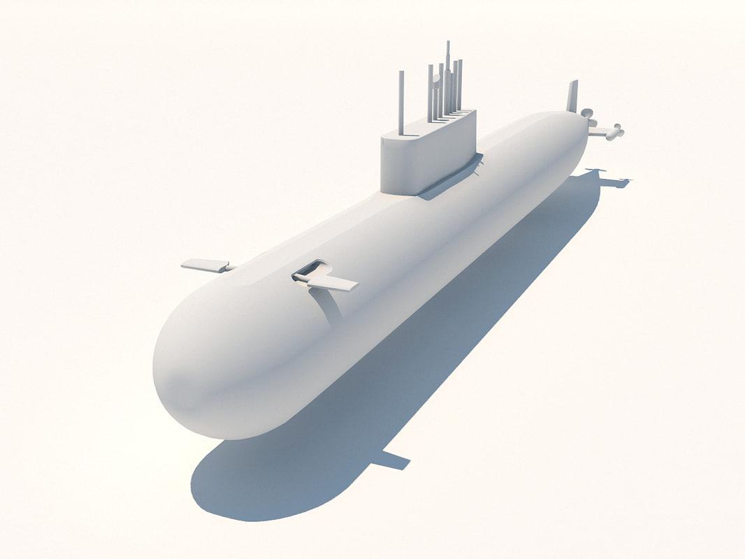 k-278 komsomolets submarine soviet 3d model