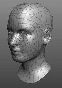 3d character head