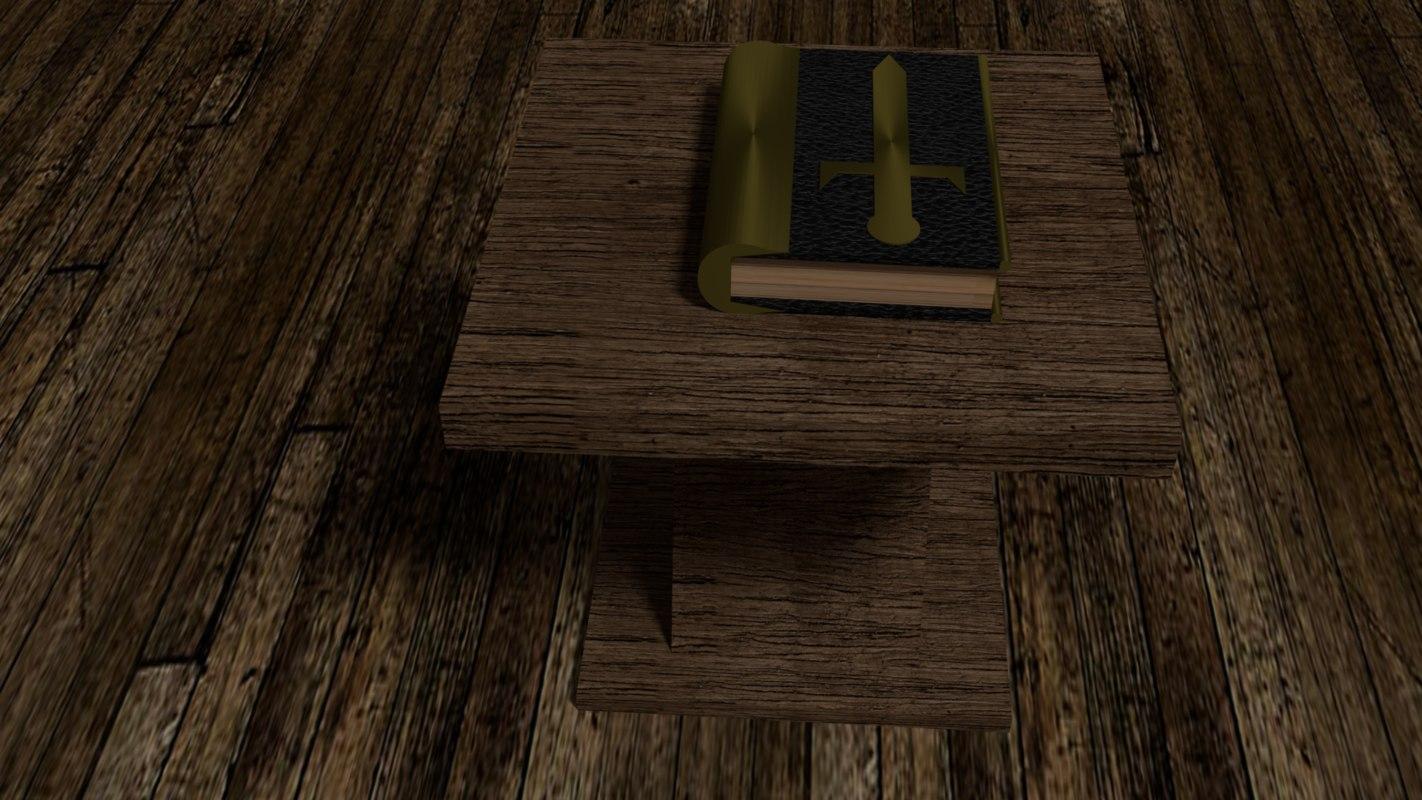 3d model book sword cover