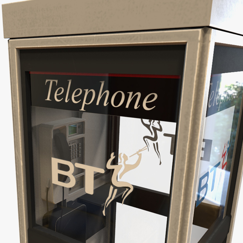 bt phone box 3d model