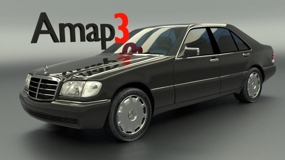 w140 s-class 3d obj