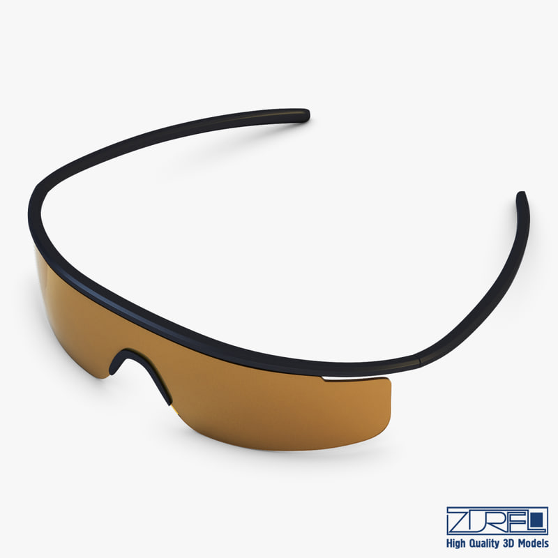 3d model sunglasses v 2