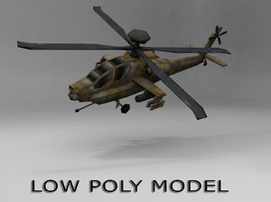 obj apache helicopter