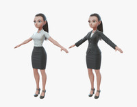 3d cartoon business toon model