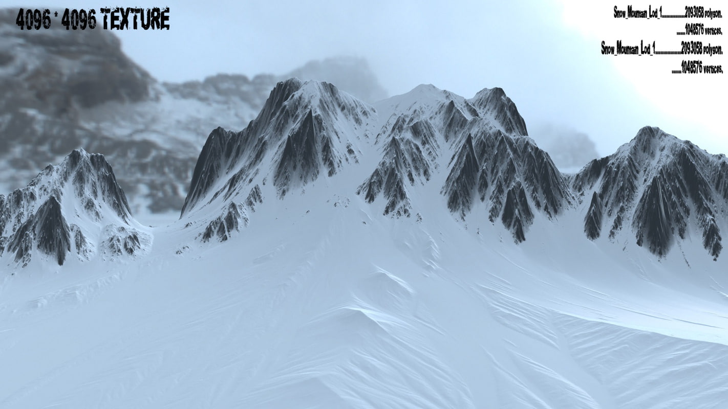 3d model snow mountain