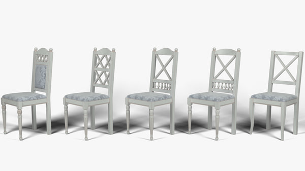 3d kitchen chair model