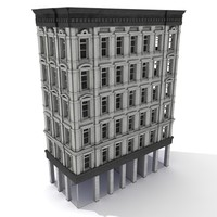 3d american tenement house model