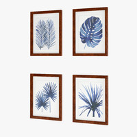 Indigo Foliage Prints Williams Sonoma