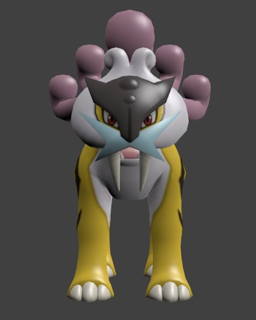 pokemon 243 raikou - 3d model