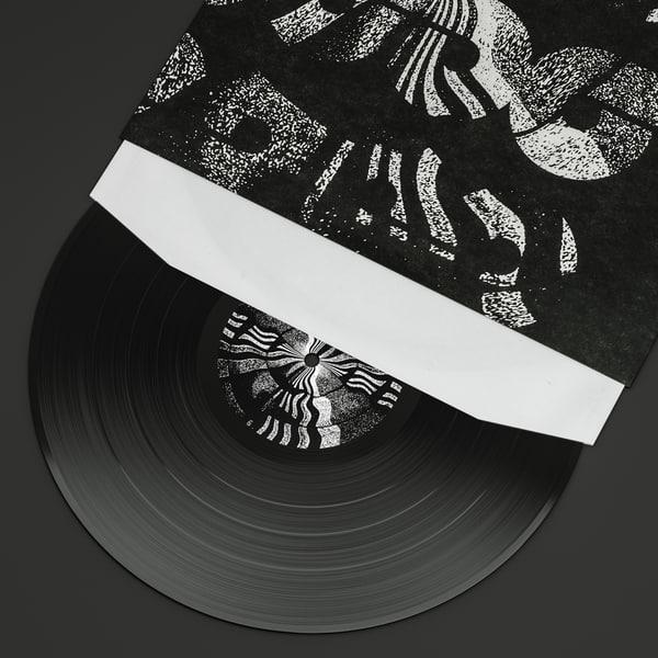 vinyl record 3d obj
