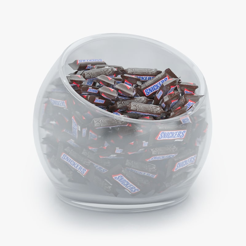 3d snickers minis