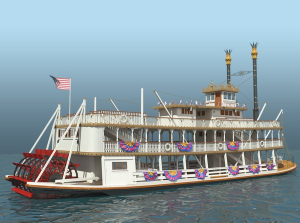 3d mark twain riverboat