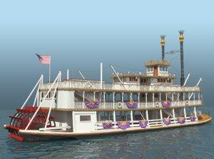 3d mark twain riverboat
