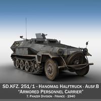3d sd kfz 251 1 model