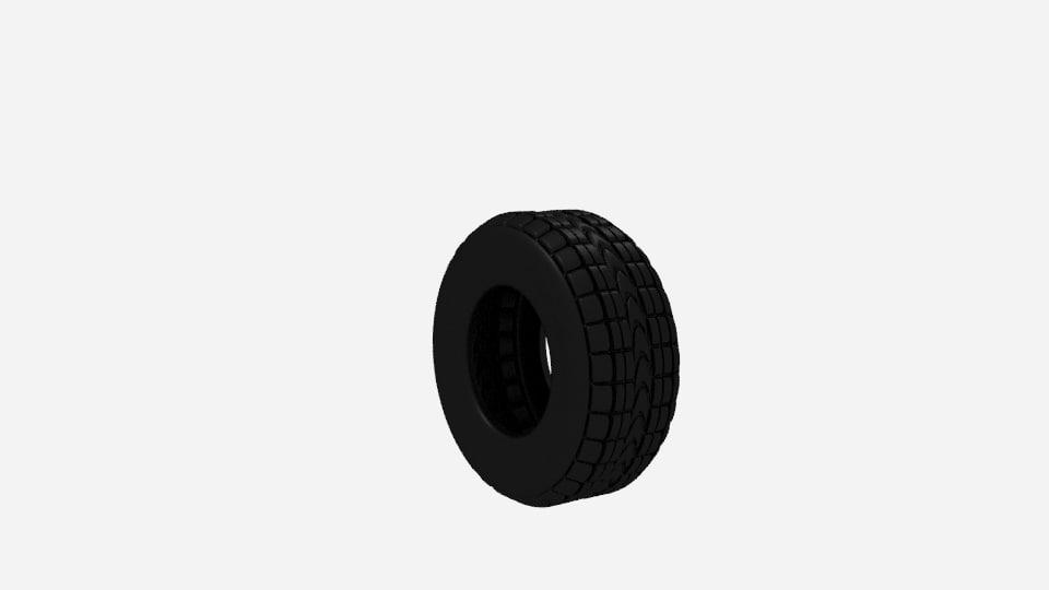 free car tire 3d model