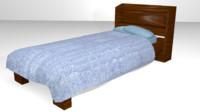 3d wooden bed games - model