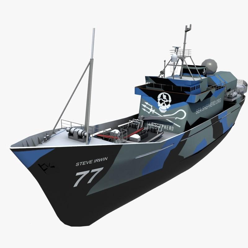 3d max ship whaling