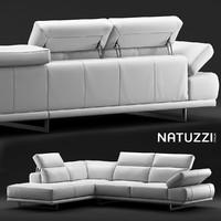 sofa natuzzi borghese 3d max