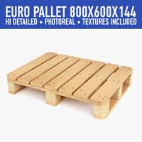 wood pallet 3d c4d