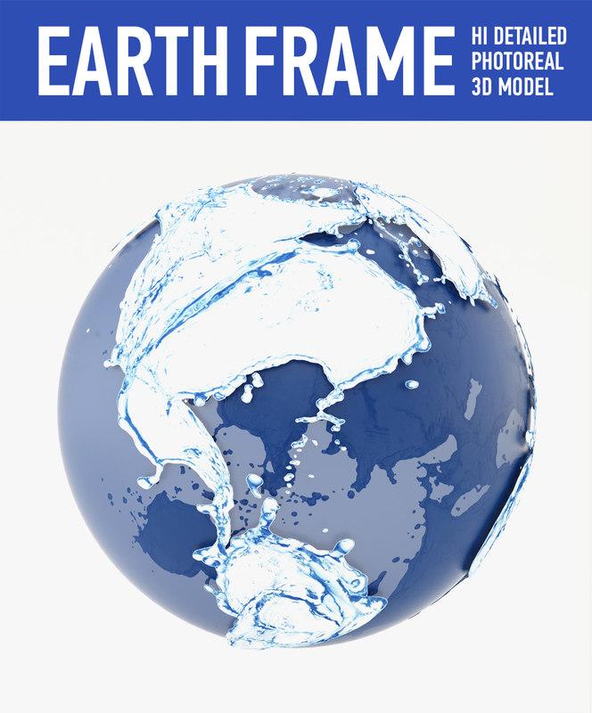 3d water globe