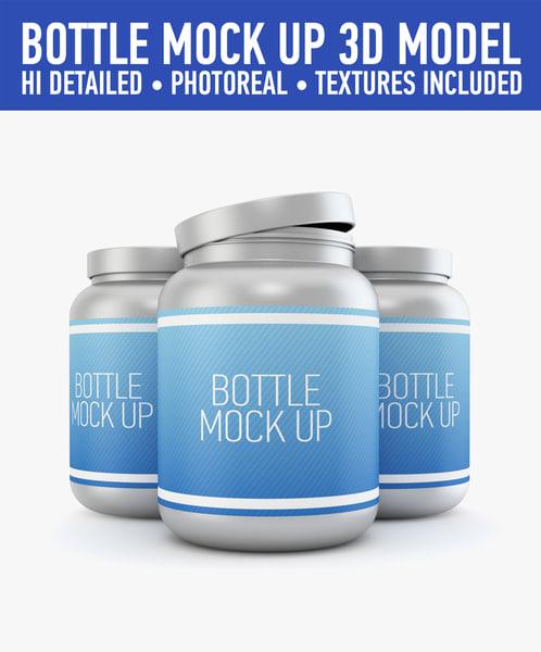 3d plastic bottle