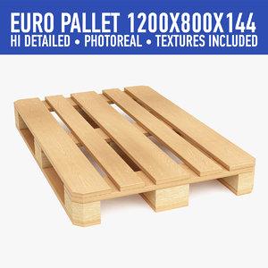 wood pallet 3d 3ds