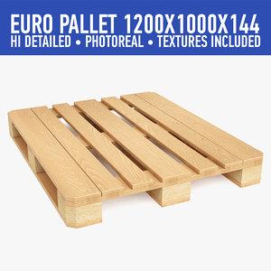 3d wood pallet model