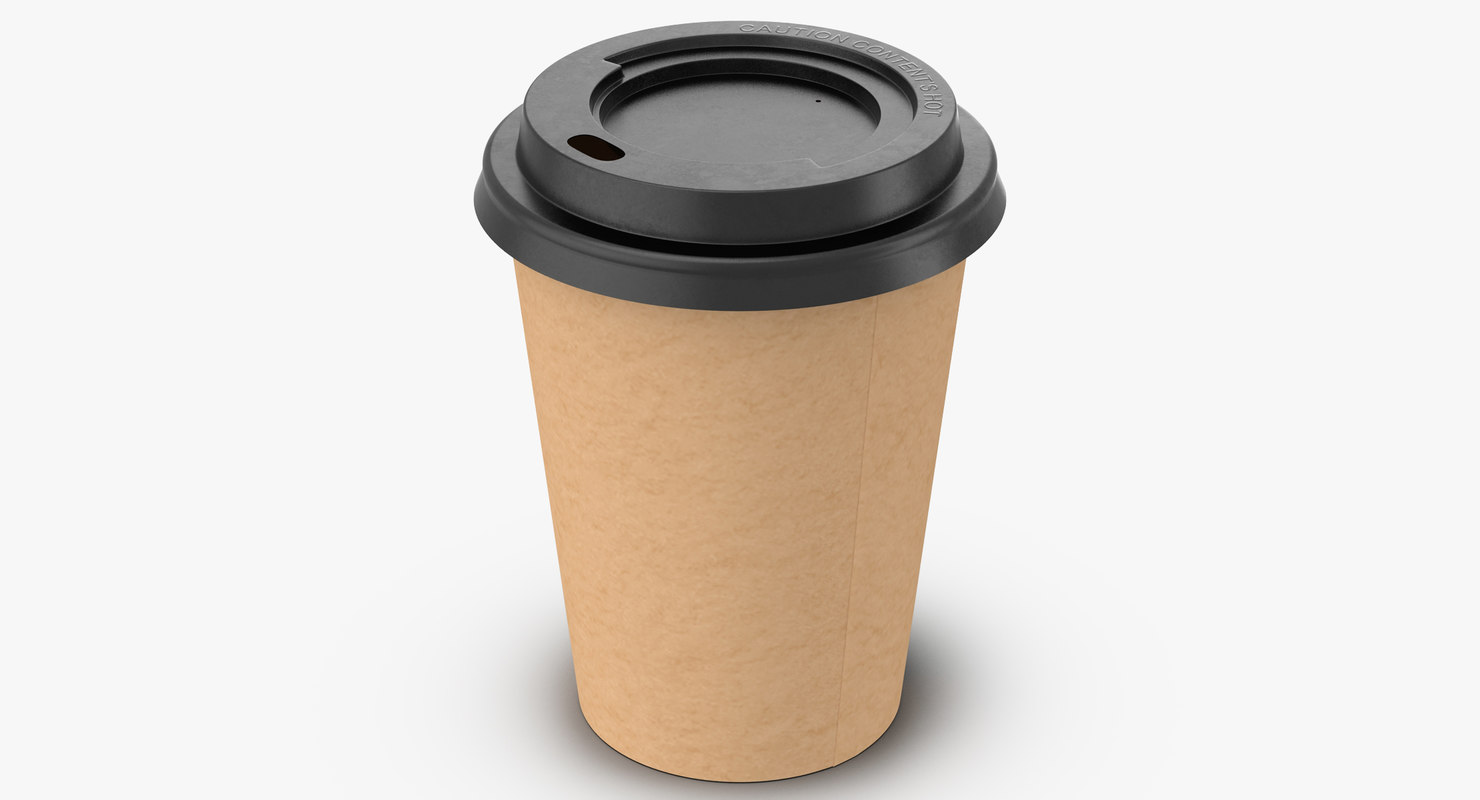 3d model of coffee cup 12oz takeout