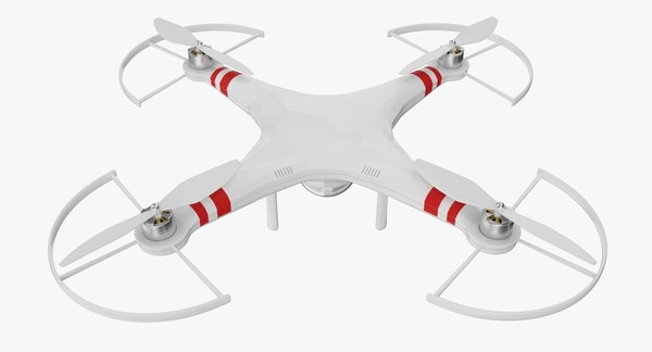 drone quadrocopter 3d fbx
