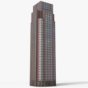 tall building 1 3d model