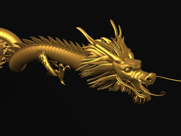 3d ancient dragon chinese model