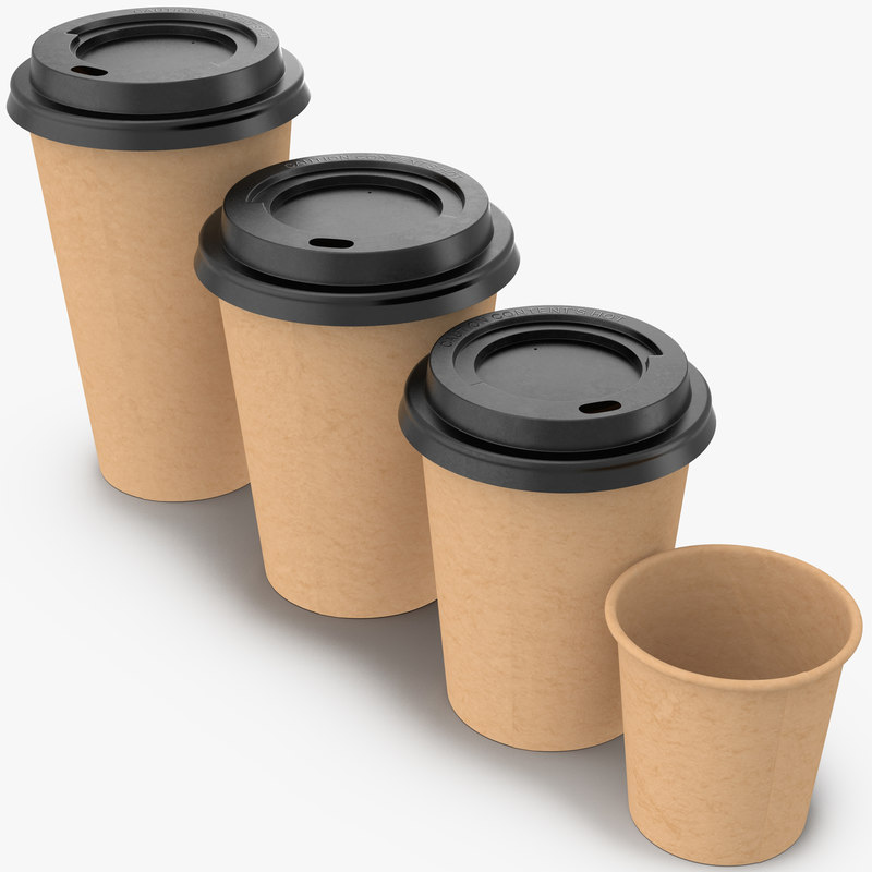 coffee cups takeout 4 3d max