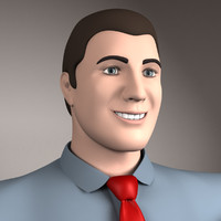 basic male modeled 3d model
