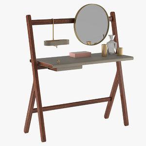 3d model dressing table poltrona frau
