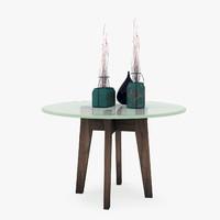 3d model glass dinner table