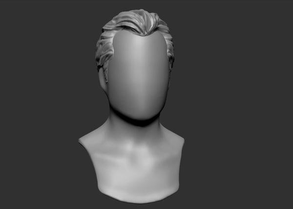 3d hairstyle ztl zbrush