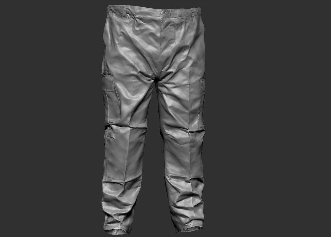 3d model military pants trousers
