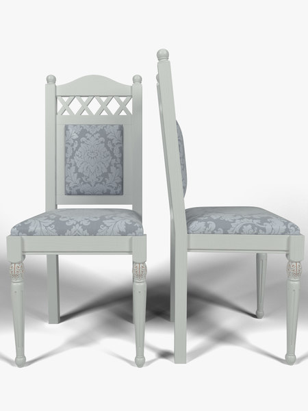 kitchen chair 3d obj