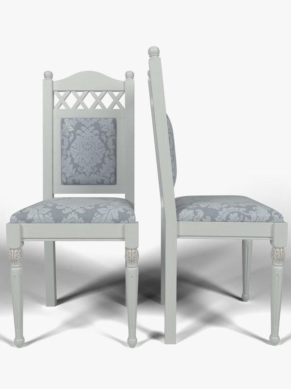 kitchen chair 3d obj