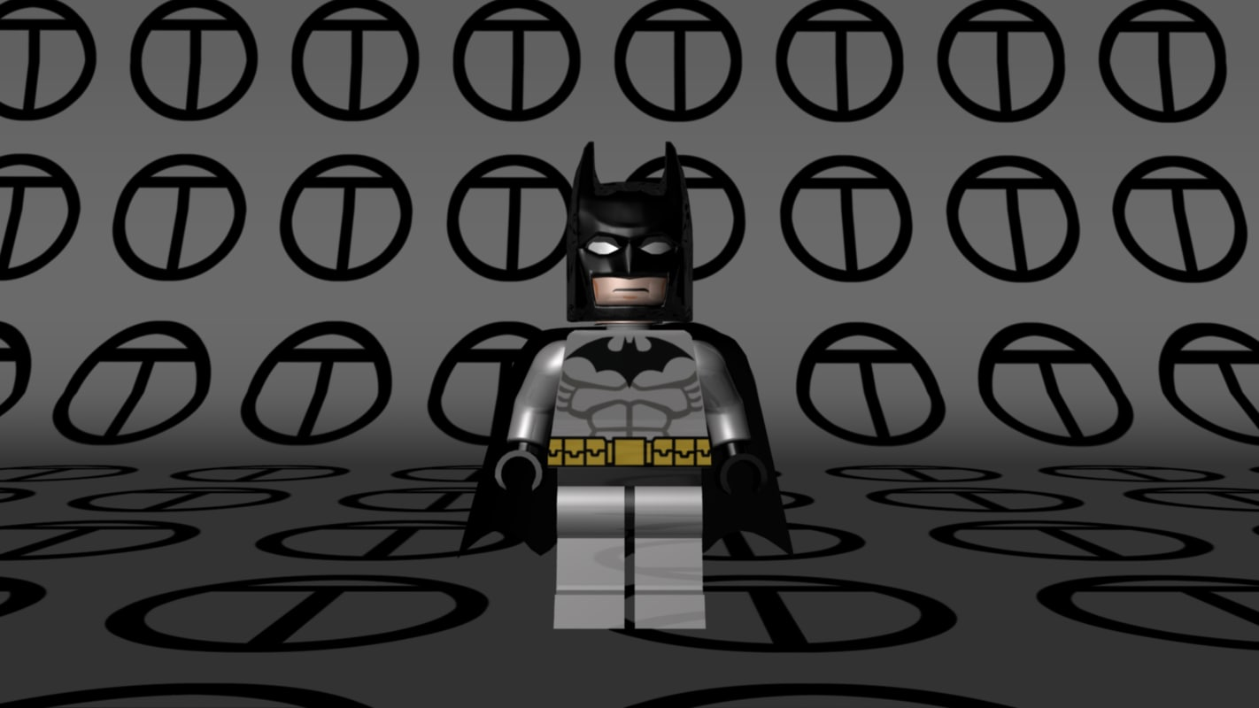 3d model lego batman black grey