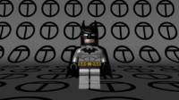 3d model lego batman black grey