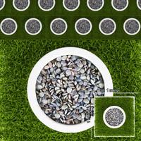 grass pebbles 3d model