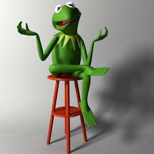 frog kermit rigged 3ds