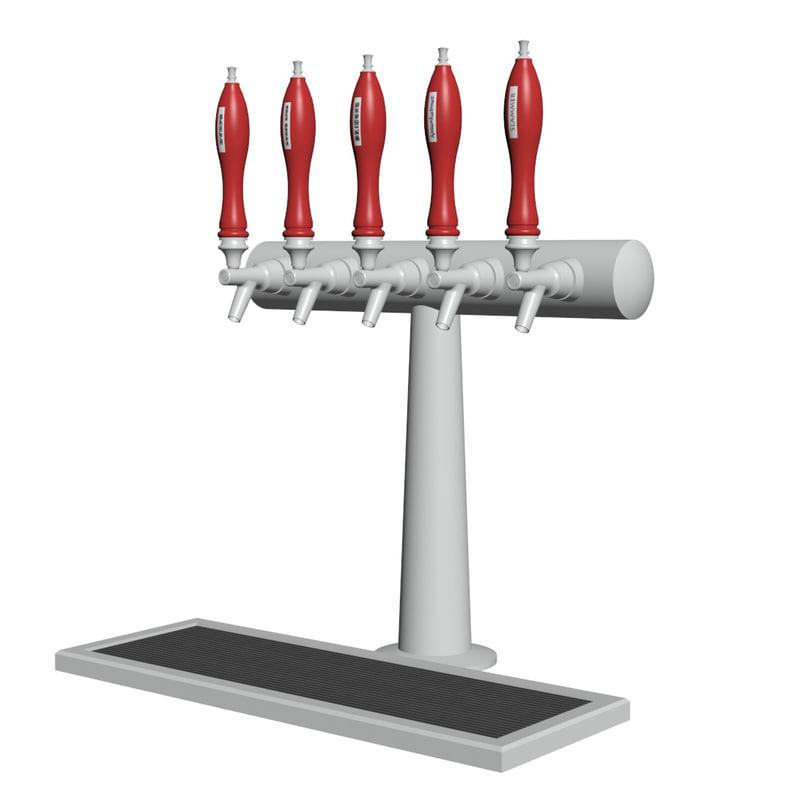 3d model beer taps handles