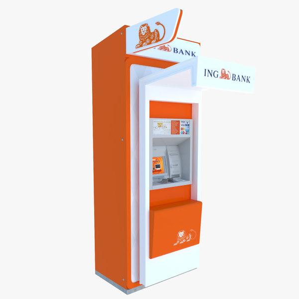 atm machine bank 3d model