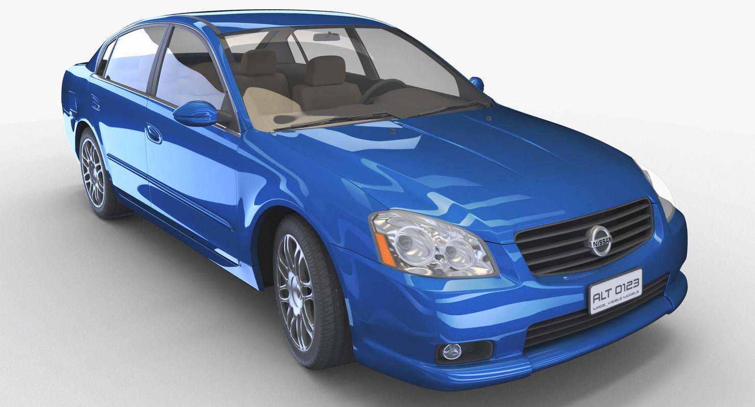 realistic sedan - relatively 3d model